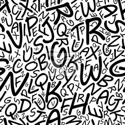 Nahtlose Alphabet-Muster in einem Cartooned font