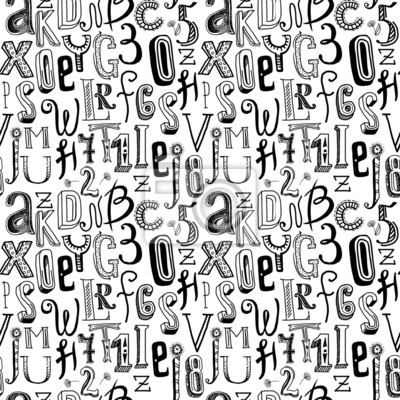 Nahtlose Alphabet schwarz