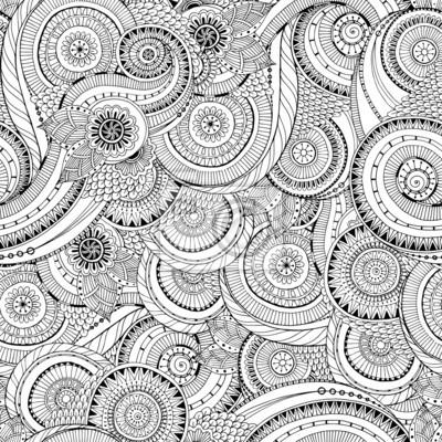 Nahtlose Blume Retro-Hintergrund im Vektor.