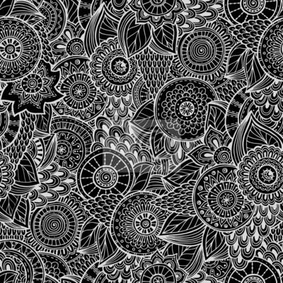 Nahtlose Blume Retro Hintergrund im Vektor.