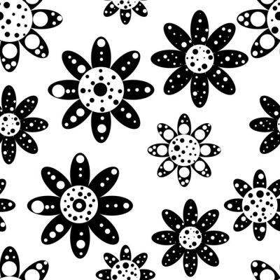 Fototapete Nahtlose Blumenmuster