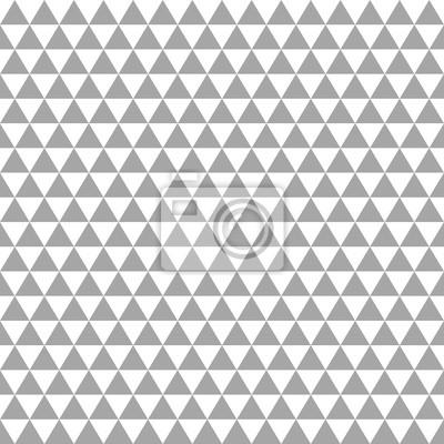 Fototapete Nahtlose Dreiecke Retro Muster Grau / Weiß