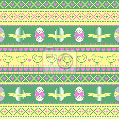 Fototapete Nahtlose Easter-Muster