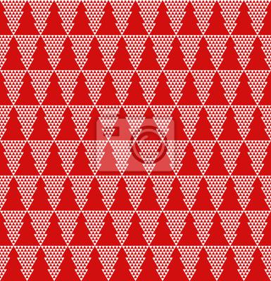 Tannenbaum Muster.Fototapete Nahtlose Einfache Vektor Tannenbaum Muster