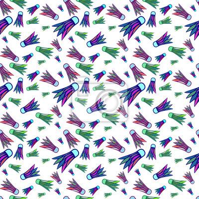 Nahtlose farbige Federball Muster