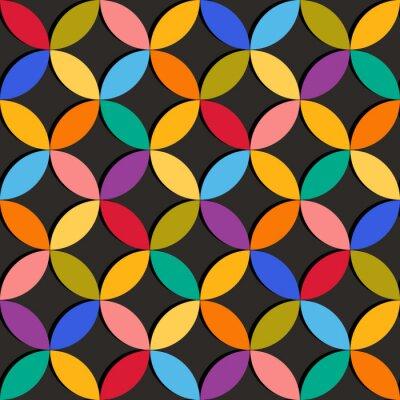 Fototapete Nahtlose geometrische Muster mit bunten Elementen