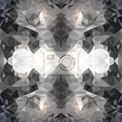 fototapete nahtlose grafische muster von dreiecken polygone - Grafische Muster