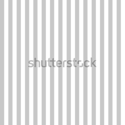 Fototapete Nahtlose graue und weiße Farben des Musterstreifens. Vertikaler Musterstreifen-Zusammenfassungshintergrundvektor.
