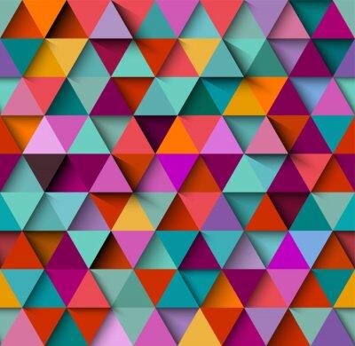 Fototapete Nahtlose Hintergrundmuster mit Dreiecken und Schatten, eps10 Vektor