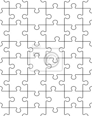 fototapete nahtlose linie puzzle muster illustration - Puzzle Muster