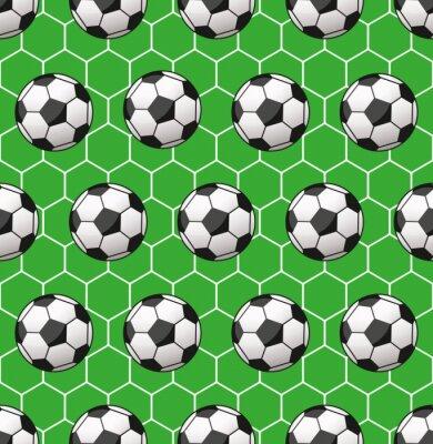 Fototapete nahtlose Muster Fußball