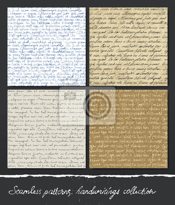 Nahtlose Muster: Handschriften-Sammlung.