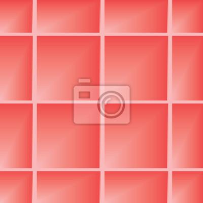 Fototapete Nahtlose Muster Hintergrund Für Boden Oder Wand Mit Quadraten.  Abbildung