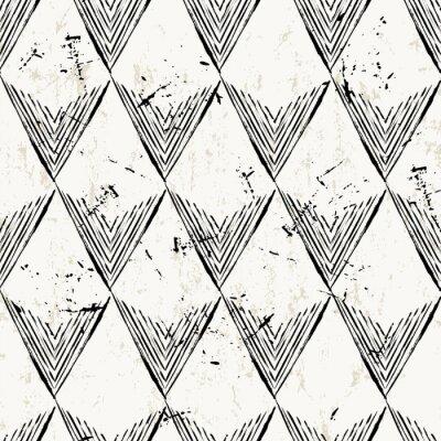 Fototapete Nahtlose Muster Hintergrund, mit Dreiecken, Striche und splashe