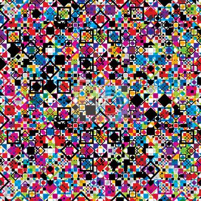 Fototapete Nahtlose Muster mit bunten Elementen.