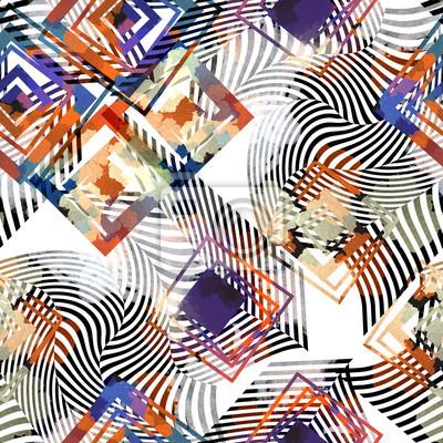 Nahtlose Muster Mit Geometrischen Formen Ethnischer Hintergrund
