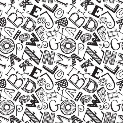 Nahtlose Muster mit Hand gezeichnet fancy Alphabet