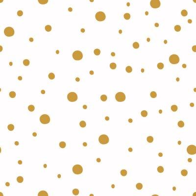 Fototapete Nahtlose Muster mit Punkt. Weihnachten Hintergrund.