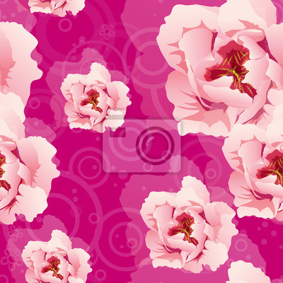 Nahtlose Muster mit rosa Pfingstrosen