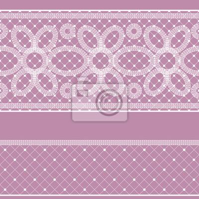 Nahtlose Muster mit Spitze für Design