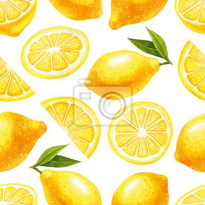 Nahtlose Muster mit Zitronen