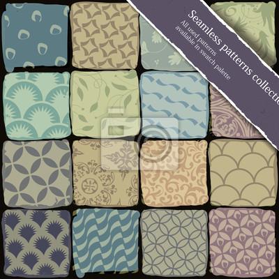 Nahtlose Muster-Sammlung. Alle verwendeten Muster in swa