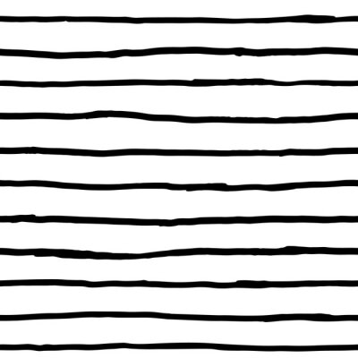 Fototapete Nahtlose Muster - Tinte horizontalen Linien