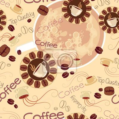 nahtlose Muster von Kaffee Logos