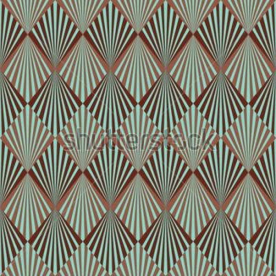 Fototapete Nahtlose Musterbeschaffenheit der Art Deco-Art
