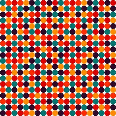 Fototapete Nahtlose Polka-Punkt-Vektor-Muster
