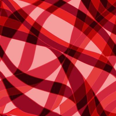 Fototapete Nahtlose rote Welle handgezeichnete Muster