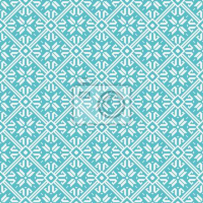 Nahtlose Schneeflocken Muster, Winter Thema, Vektor eps10 Bild.