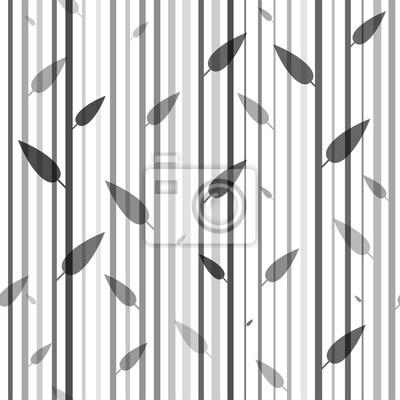 fototapete nahtlose schwarz wei muster von stovolov bume und bltter auf ihnen tapete - Tapete Schwarz Wei Muster