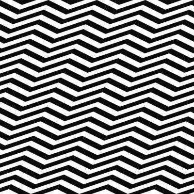 Fototapete Nahtlose schwarz weiß Sparrenmuster