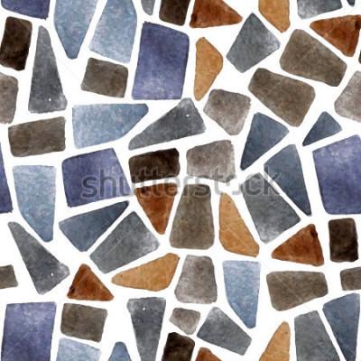 Fototapete Nahtlose Steinbeschaffenheit des Aquarells für Ihre Designe