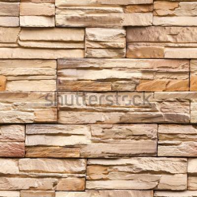 Fototapete nahtlose Steinmauer Textur und Hintergrund