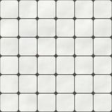 Nahtlose Textur Von Weissen Quadratischen Fliesen Mit Runden Ecken