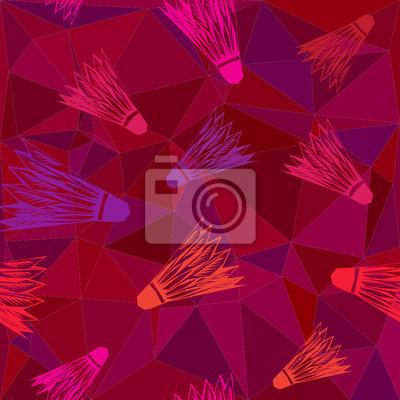 nahtlose Vektor Hintergrund mit Federbälle