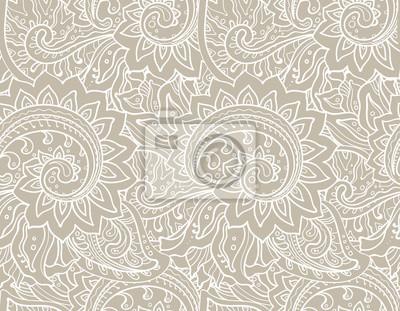 Nahtlose Vektor-Muster mit traditionellen orientalischen floral ornamen