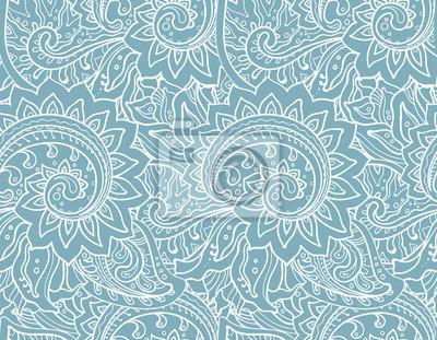 Nahtlose Vektor-Muster mit traditionellen orientalischen Ornament