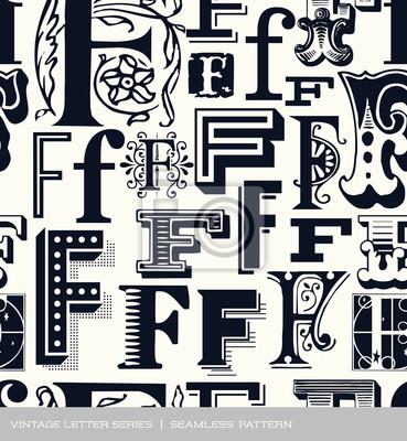 Nahtlose vintage Muster Brief f