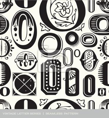 Nahtlose vintage Muster Buchstabe O