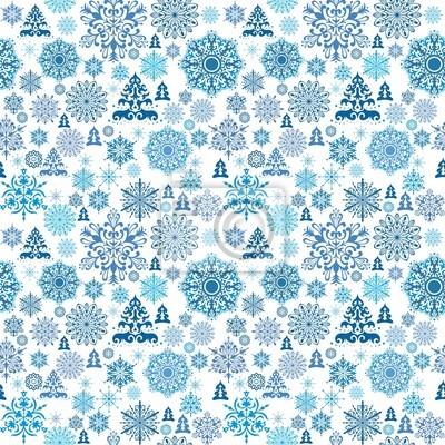 Fototapete Nahtlose Weihnachten Muster