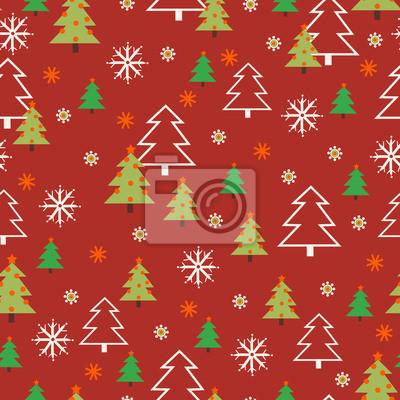 Fototapete nahtlose Weihnachten Muster. nahtlose Muster mit Silvester.