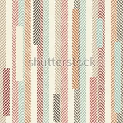Fototapete Nahtloses abstraktes buntes gestreiftes Muster. Endlose Muster können für Keramikfliesen, Tapeten, Linoleum, Textilien, Hintergrund der Webseite verwendet werden.