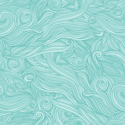 Fototapete Nahtloses abstraktes Muster, Gewirr welliges Haar Hintergrund