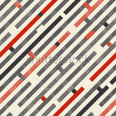 Fototapete Nahtloses abstraktes Muster mit Schrägstreifen auf Beschaffenheitshintergrund in den Retro- Farben. Endlose Muster können für Keramikfliesen, Tapeten, Linoleum, Textilien, Hintergrund der Webseite ver