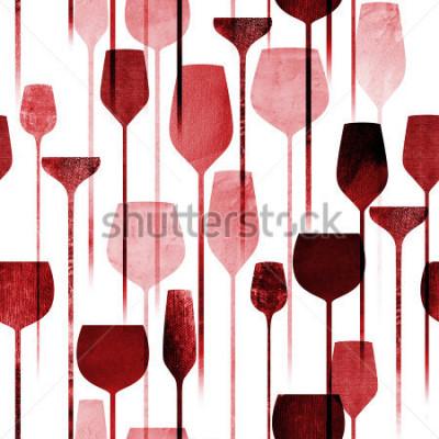 Fototapete Nahtloses Muster der strukturierten Papiercollagenkunstpartei, die konzeptionellen bunten Alkoholgetränke, die Hintergrund für Netz- und Druckzweck wiederholen.