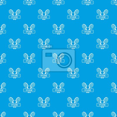 Nahtloses Muster des Hygiene-Duschemustervektors Blau