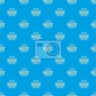Nahtloses Muster des Hygienebakterienmuster-Vektors blau